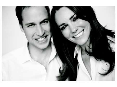JCrew ad or royal wedding portrait Prince William and Kate Middleton are
