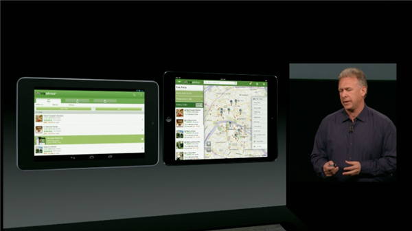 Phil Schiller contrasts iOS iPad optimized apps with stretched smartphone apps on Android tablets