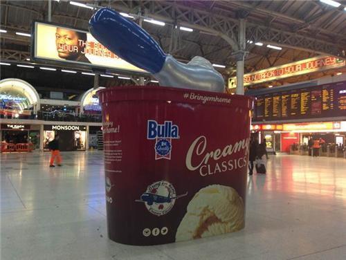 Giant tub of ice cream