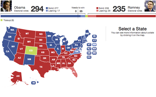 Live Blog Election 2012 Poll Results And News As It Happens 1106 - Us Map Presidential Predictions