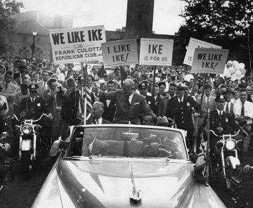 Ike Eisenhower on the campaign trail.