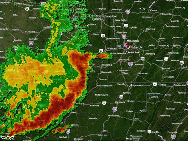 severe storms hit western pennsylvania