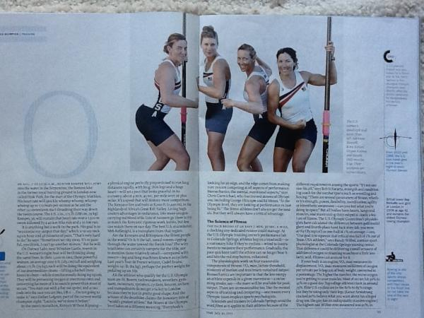 Such a great shot of my boat in @TIME!  I love it! Thanks for including rowers in