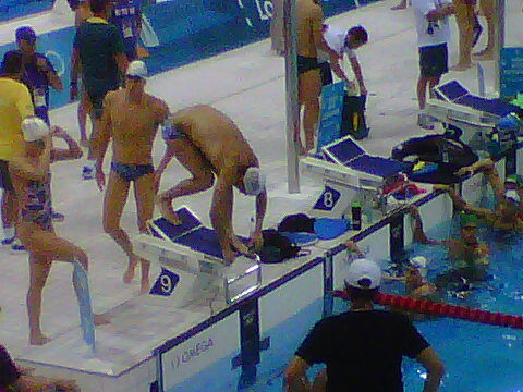 RT @JasonNBC: Here's @MichaelPhelps on the blocks. <a href=