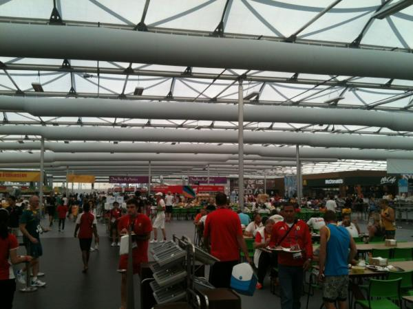Here you go @natalieSdell: RT @GBMensQuad: Food anyone.... The fairly vast Olympic village food hall <a href=
