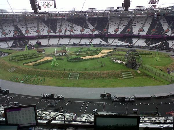 RT @JoeyCheek: So cool!  Check out this pic from inside the #OlympicStadium! <a href=