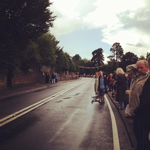 RT @thegreengal: Despite the rain the village is out to watch the Olympic women's road cycling race <a href=