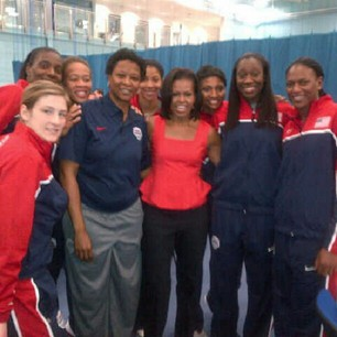 US team &amp; the first lady <a href=