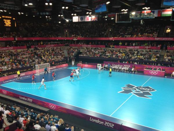 Great workout this morning, then watched some handball today. Very physical game. Good stuff. 6 more days. <a href=