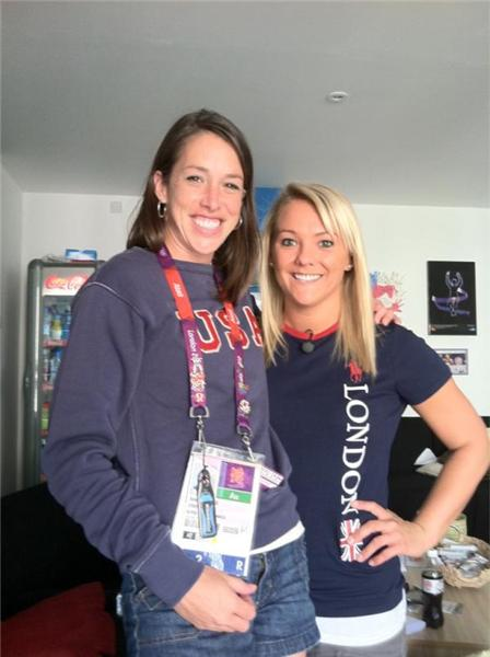 Found another amazing MN superstar athlete @kelci_bryant!! Hanging out in the USA athlete lounge. #London2012 <a href=