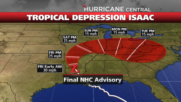 severe weather  tracking isaac