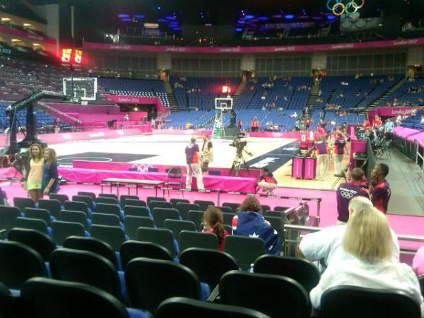 Basketball floor North Greenwich Arena <a href=
