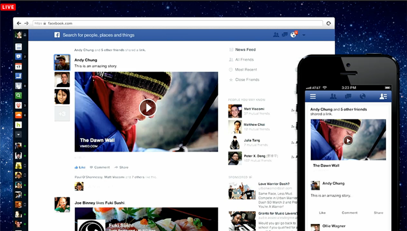Facebook's new design