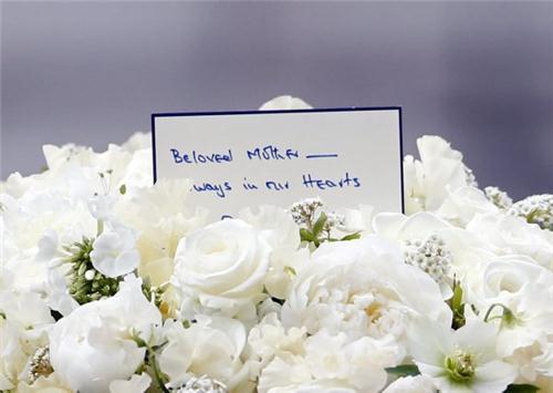 en sista hälsning vid begravning