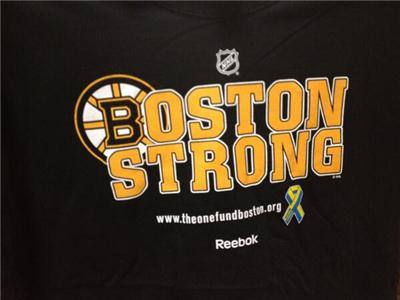 Boston Strong t-shirt the Bruins & Pens are wearing is available at