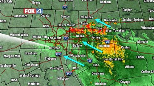 dallas texas weather radar in motion