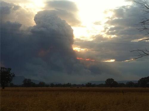 citra landsat 8 Gampians fire australia