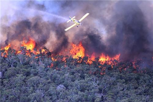 Citra landsat 8 pada kebakaran grampians