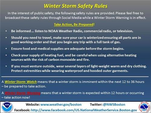 Snow storm safety facts