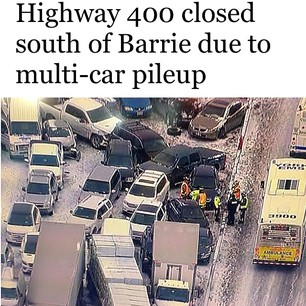 Hwy  400 crash | Liveblog live blogging
