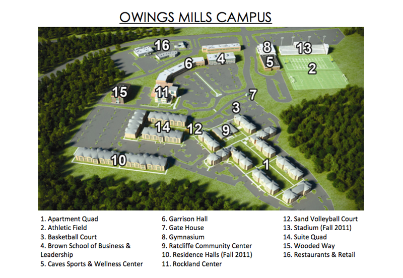 Here S A Map Of The Stevenson Owings Mills Campus