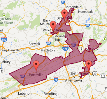 Courtesy Of U S Rep Cartwright S Website A Map Of The 17th Whose Primary Race I M Covering Tonight