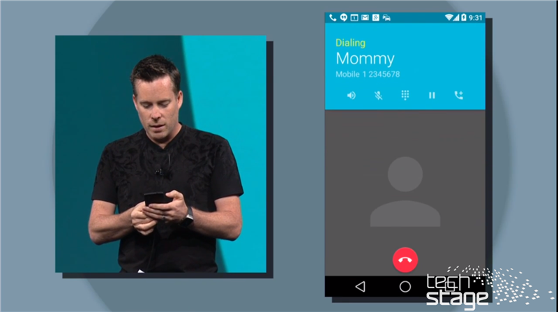 Android Speed Dialer Android L Google I/O 2014