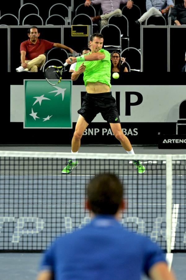 Самый интересный поединок дня на челленджере ATP в Муийрон-ле-Каптиф.   - Тобиас Камке набрал в