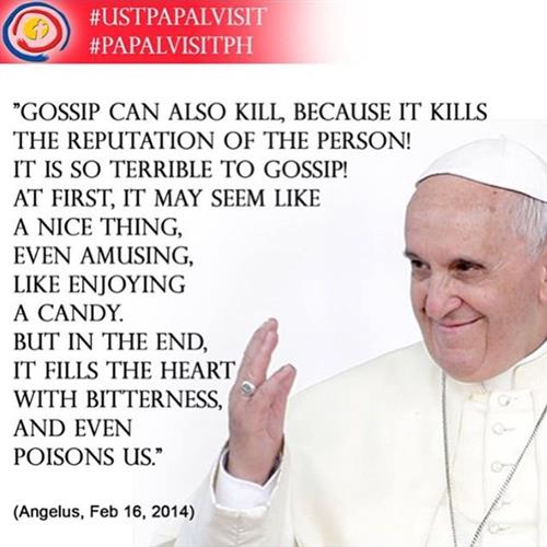 Image result for pope francis gossip