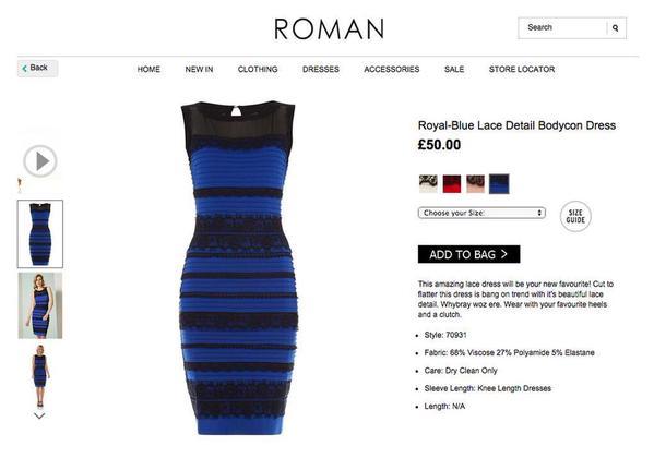 Wie sehe ich das kleid in blau schwarz