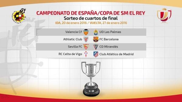 Copa Del Rey Cuartos De Final   Resultado Del Sorteo Cuartos De Copa Del Rey De Futbol
