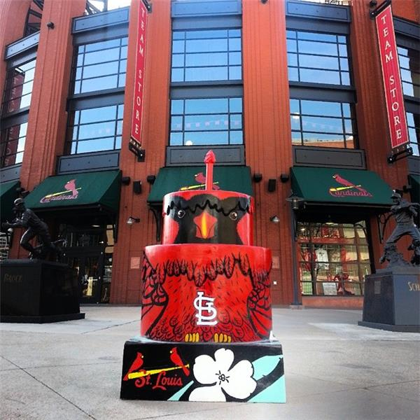 St Louis 250 Birthday Cake At Busch Stadium Ballpark Village Stlouis Stlouisown Downtown Cardinalnation Stlouiscardinals Ballparkvillage
