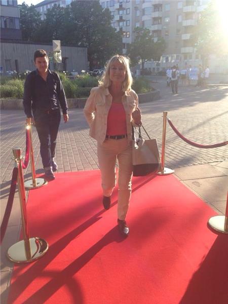 Marita Ulvskog anländer.