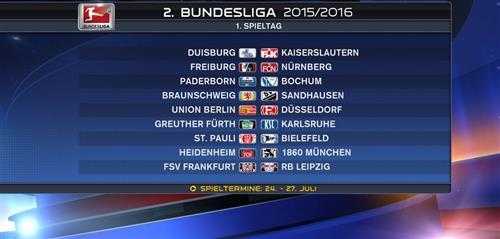 Bundesliga Präsentattion Spielplan 1516