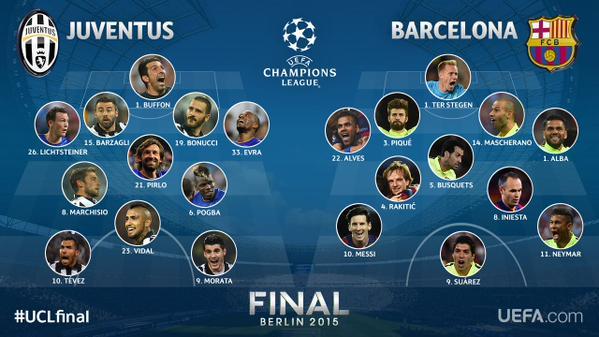 Champions League Final Live Juventus Vs Barcelona In Berlin