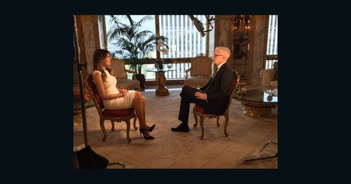 Photo published for Melania Trump interviewed by CNN's Anderson Cooper