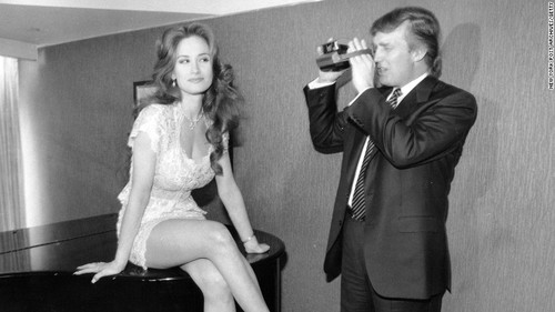 Donald Trump photographs a Playmate hopeful in 1993.