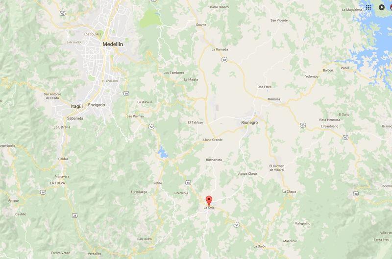 El accidente aéreo se ha producido cerca de Medellín, en una zona próxima al municipìo de La Ceja