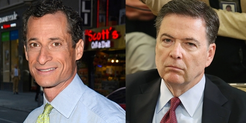 Image result for weiner and comey