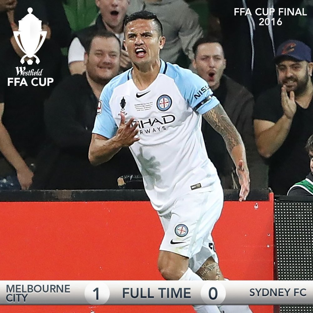 With new cup name and logo its time to go to work foxsports com - Full Time Melbournecity Are 2016 Ffacupfinal Champions Tim_cahill With The Only Goal Of The Game In Melbourne
