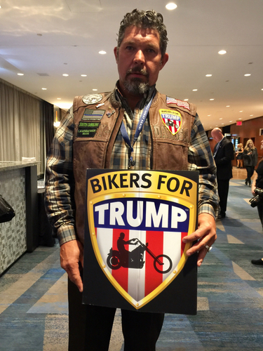 Chris Cox from Bikers for Trump is one of the gues    - CBC