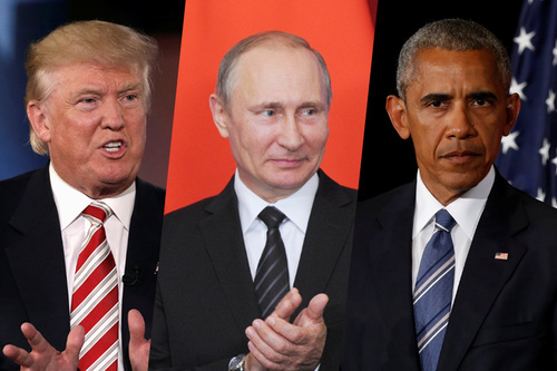 Image result for obama trump putin