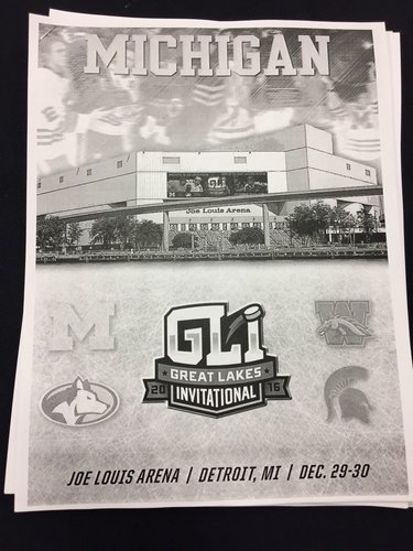 Cool cover on @umichhockey game notes for #GLI