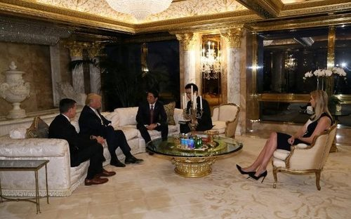 Image result for shinzo abe trump ivanka