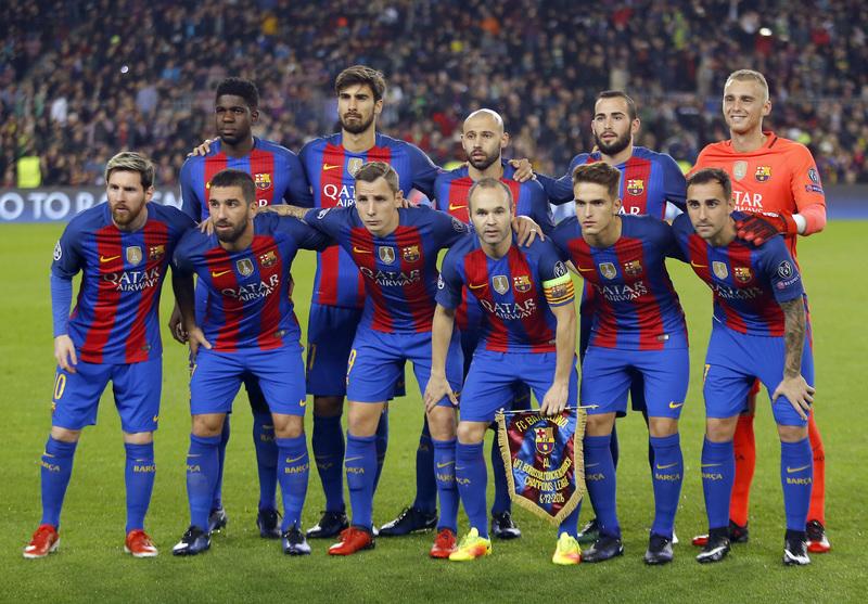 El once del Barça FOTO: AP