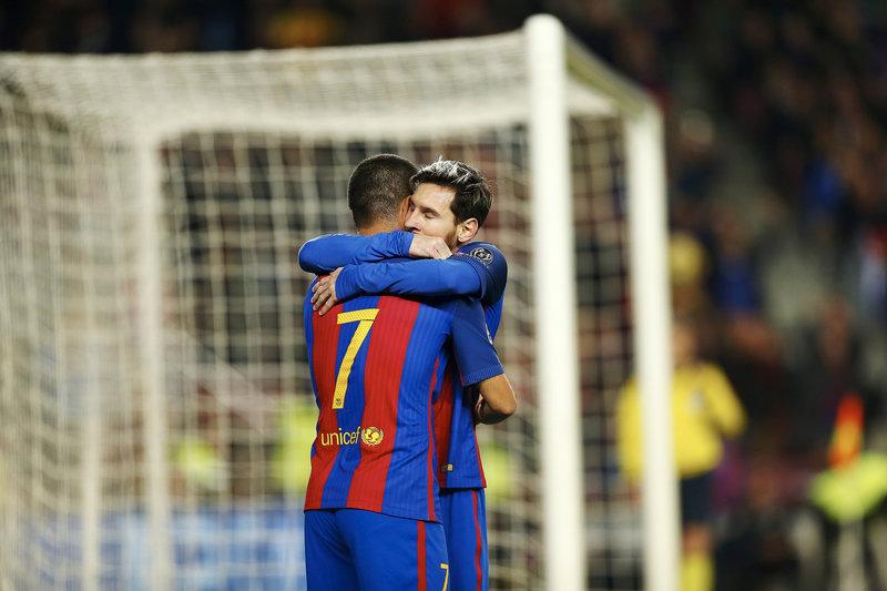 Messi agradece a Arda la asistencia en el 1-0