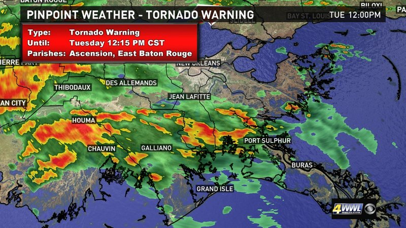 Live updates: New tornado watch for New Orleans area until