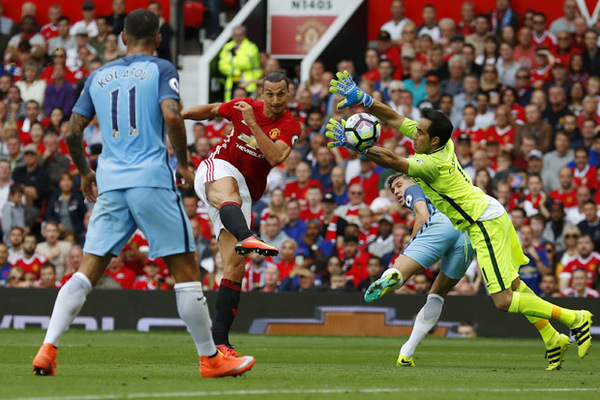 Image result for manchester united 1-2 man city zlatan