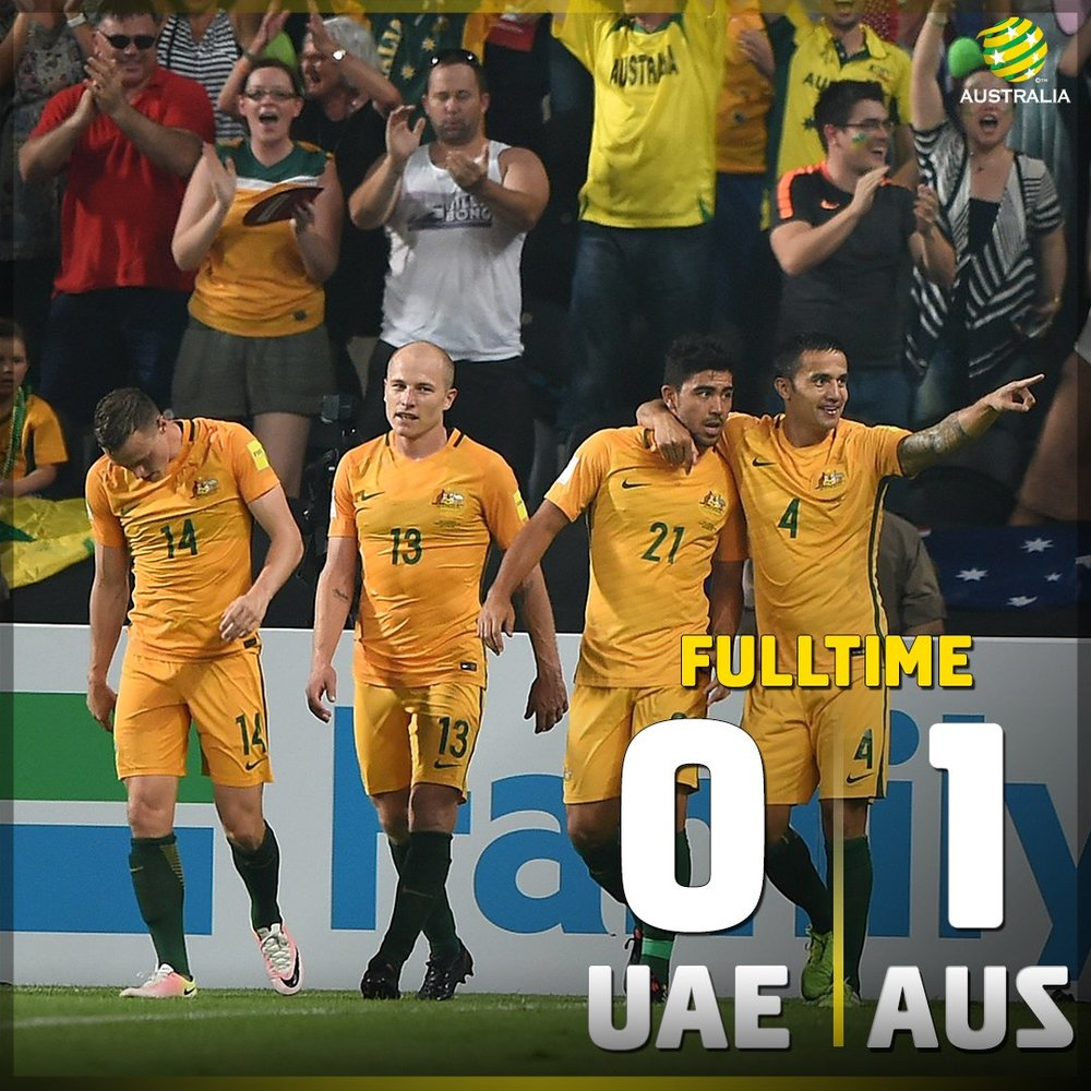 With new cup name and logo its time to go to work foxsports com - Job Done Uaevaus Gosocceroos