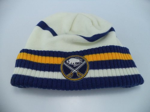 separation shoes da2df 02179 ... sweden sport buffalo sabres reebok nhl striped cuffed knit beanie youth hat  cap osfa dlvr.